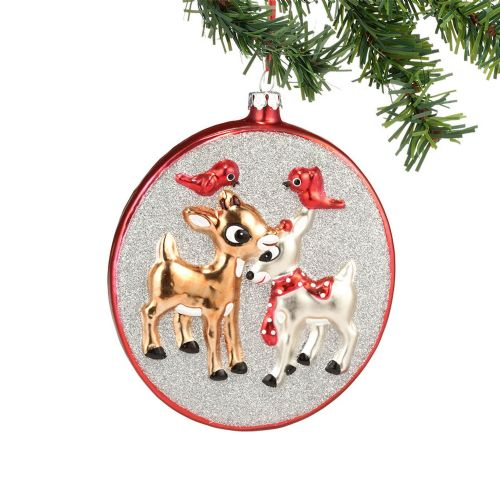 Clarice and Rudolph Glass Ornament